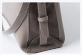 Zipped Messenger Leather Bag