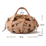 Geometric Cutout Leather Shoulder Bag Sale