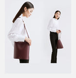 Leather Tote with Adjustable Strap