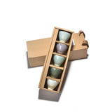 Gift box Celadon Tea Cups set of 5