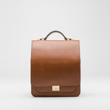 Two in One Square Leather Backpack