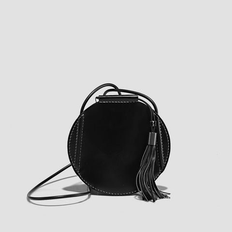 Handmade Drawstring Leather Shoulder Bag