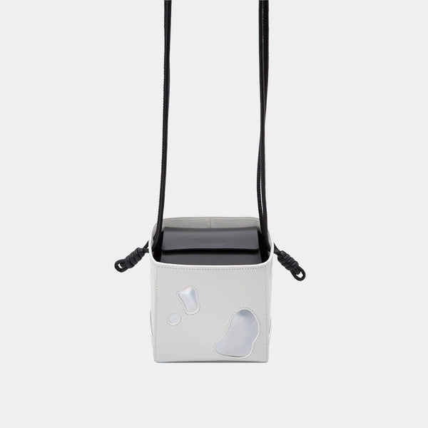 Promotion Mini Square Box Shoulder Bag | White