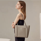 Seamless Tote Leather Handbag