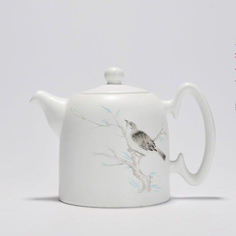 Hand painted Teapot and 2 cups