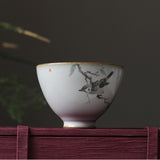 Handmade Hand Painted Tea Cup