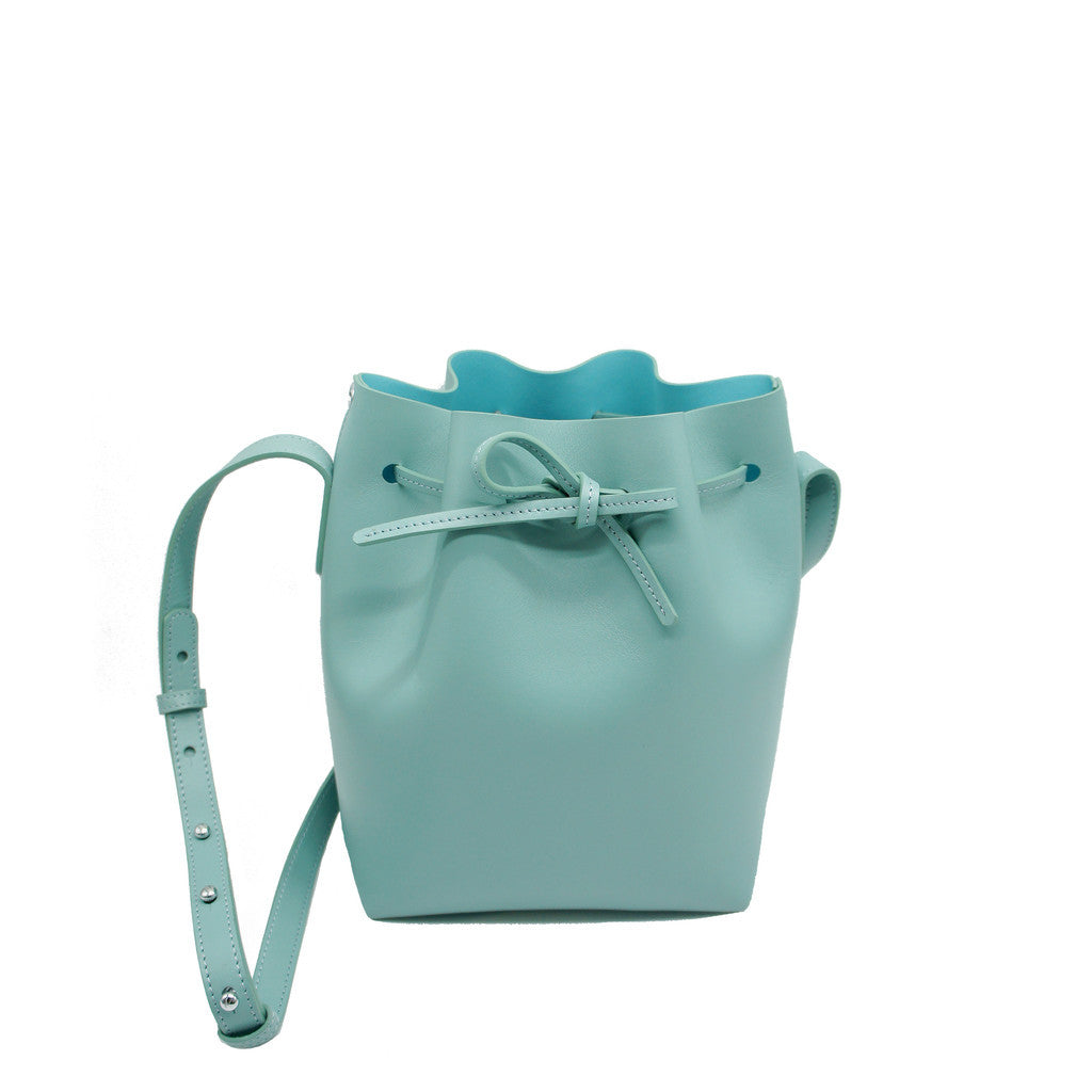 Promotion Leather Bucket Bag | Shallow Green