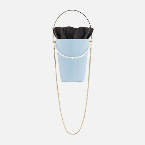 Bucket Bag With Frill | Blue