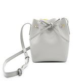 Leather Bucket Bag | Grey