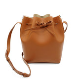 Leather Bucket Bag | Apricot