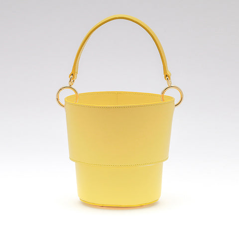 Adjustable Size Bucket Bag | Yellow