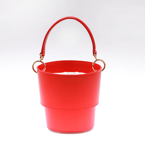 Adjustable Size Bucket Bag | Red