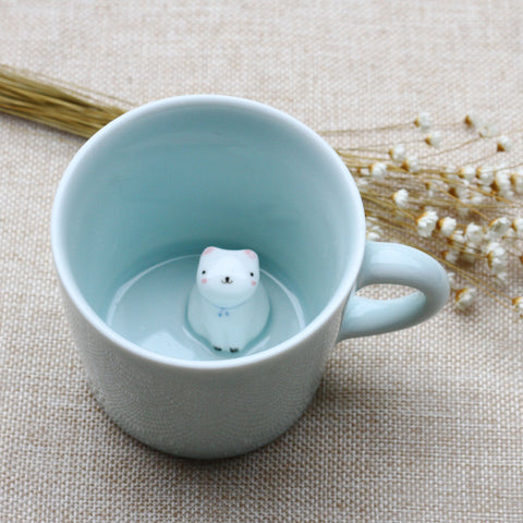 Celadon Children Gift Cup with Animal