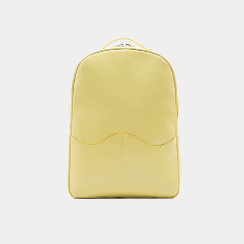 Promotion Leather Computer Backpack | Light Yellow
