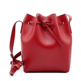 Leather Bucket Bag | Ruby Red