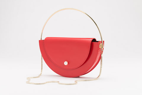 Half Moon Shoulder Bag | Red