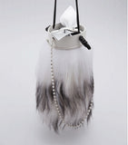 Promotion Tube Fur Bow Shoulder Bag