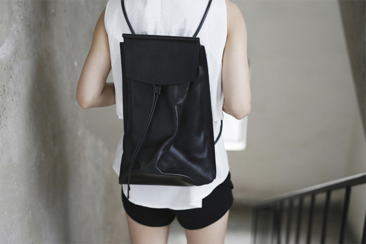 Huge Handmade Leather  Backpack
