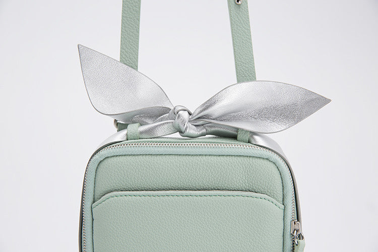 Classic Square Bow Messenger Bag | Bean Green