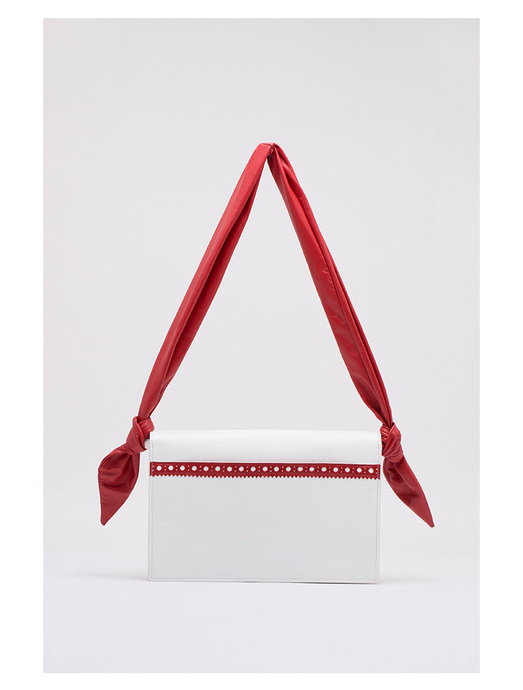 Leather Envelope Crossbody Bag | White