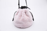 Promotion Drawstring Sheepskin Bow Bucket Bag | Rabbit Pink