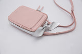 Promotion Classic Square Bow Messenger Bag | Pale Pink