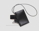 Handmade Leather Square Crossbody Bag