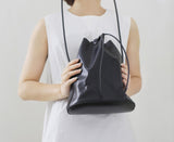 Promotion Leather Drawstring Backpack