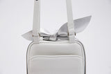 Promotion Classic Square Bow Messenger Bag | White