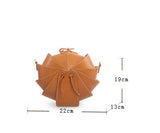 Small Round Leather Shoulder Beetle Bag Pink Sale