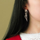 Eaves Rain 925 Fine Silver Drop Earrings