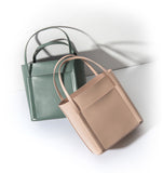 Seamless  Small Tote Leather Handbag -SALE