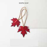 Maple Leaf Handmade Leather Keychain