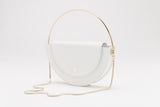 Half Moon Shoulder Bag | White