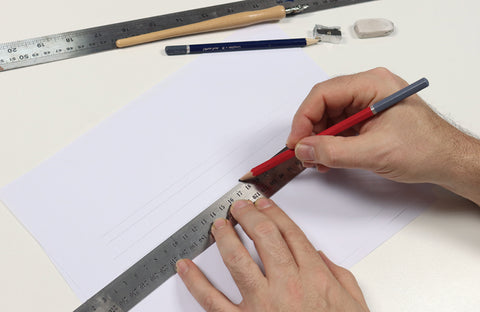 Calligraphy Tips for Beginners Bangladesh draw lines
