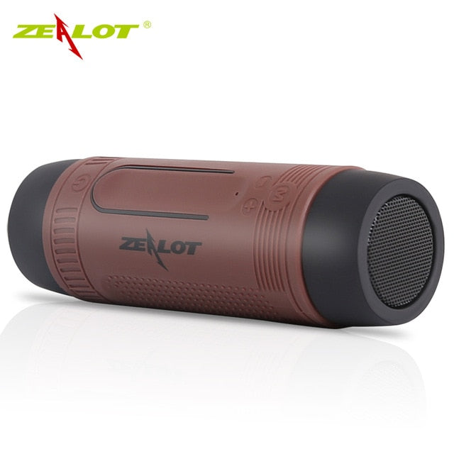 Waterproof Outdoor Bluetooth Speaker with Power Bank Function+LED light +Bike Mount+Carabiner