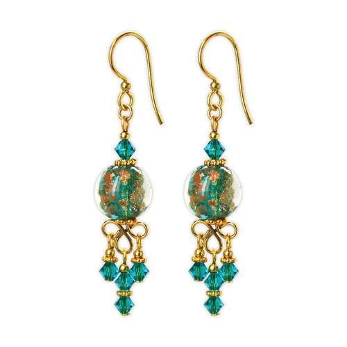 Jody Coyote Dreamer Glitter Teal Green Earring