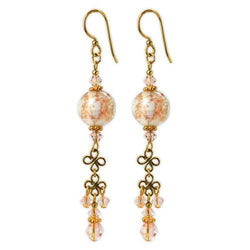 Jody Coyote Dreamer Glitter White and Gold Earring