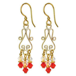 Jody Coyote Dreamer Scroll Red Earring