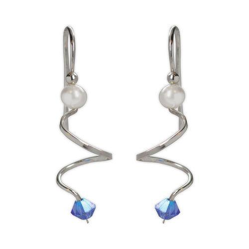 Jody Coyote Entourage Curl with Blue Crystal Earring