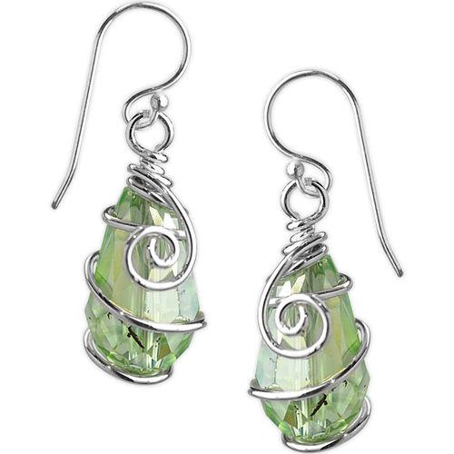 Jody Coyote Jam Session Pale Green Faceted Earring