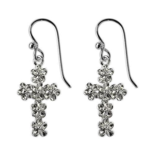 Jody Coyote Naromi Textured Cross Earring