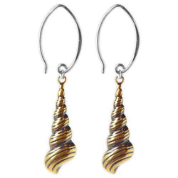 Jody Coyote Resort Gold Trumpet Shells Earring