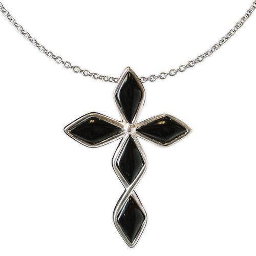 Jody Coyote Serenity Black Diamond Cross Necklace