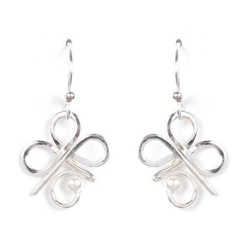 Jody Coyote Almeta Silver and Pearl Alm-0117-04 Earring