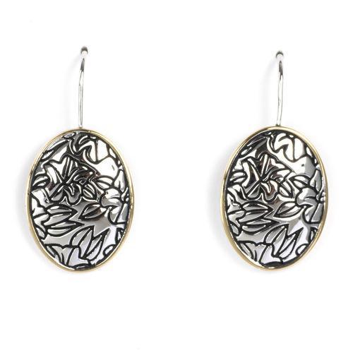 Jody Coyote Bloom Oval Earring