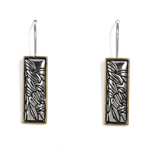 Jody Coyote Bloom Rectangle Bloom Earring