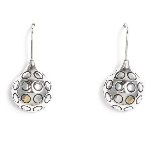 Jody Coyote GEO Ball Rhodium/Gold Plated Earring