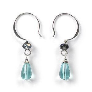 Jody Coyote Heritage Ii Blue-Green Circle Hook with Drop Earring