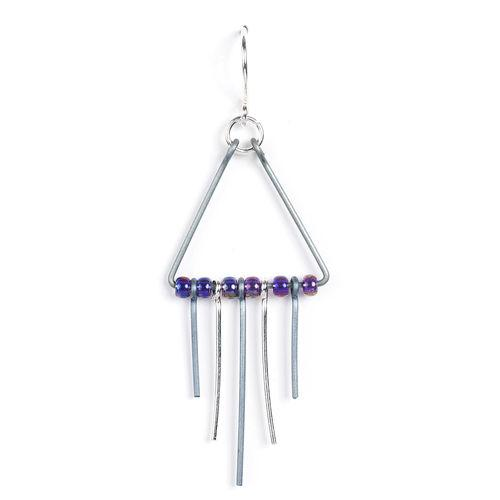 Jody USA Free Form Triangle and Sticks and Beads Earring